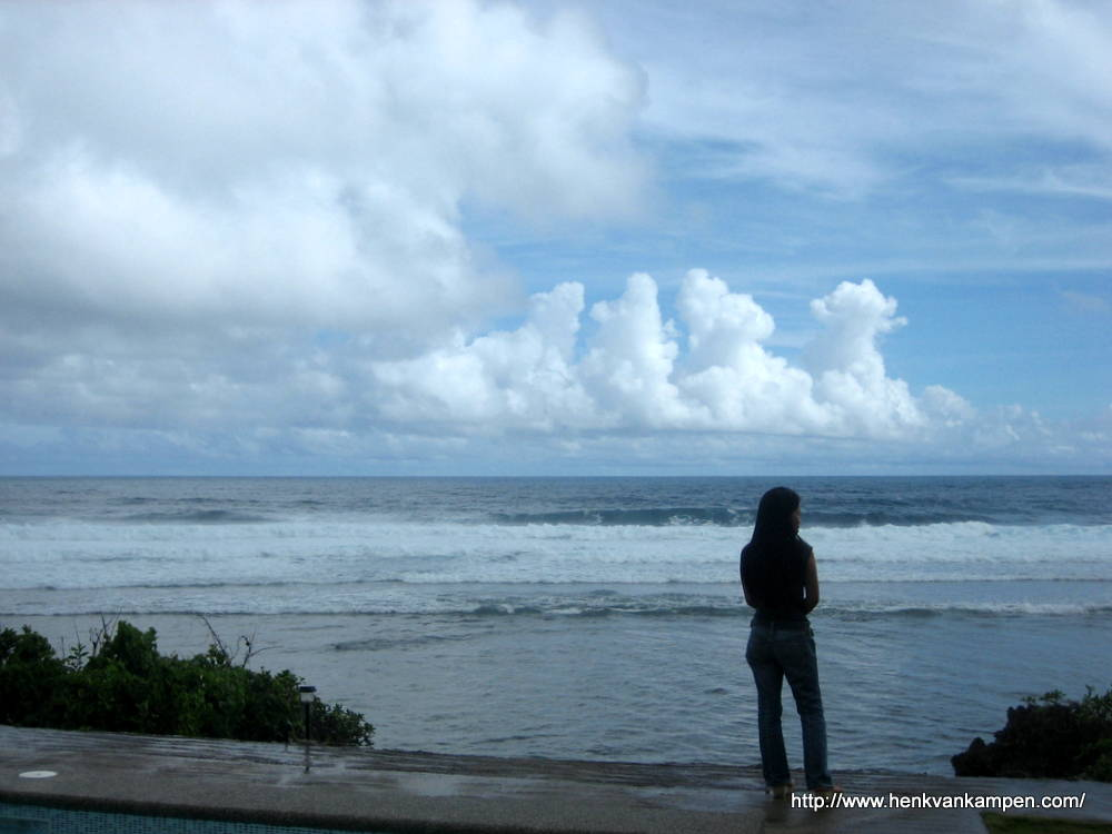 Girl overlooking the ocean, Samar