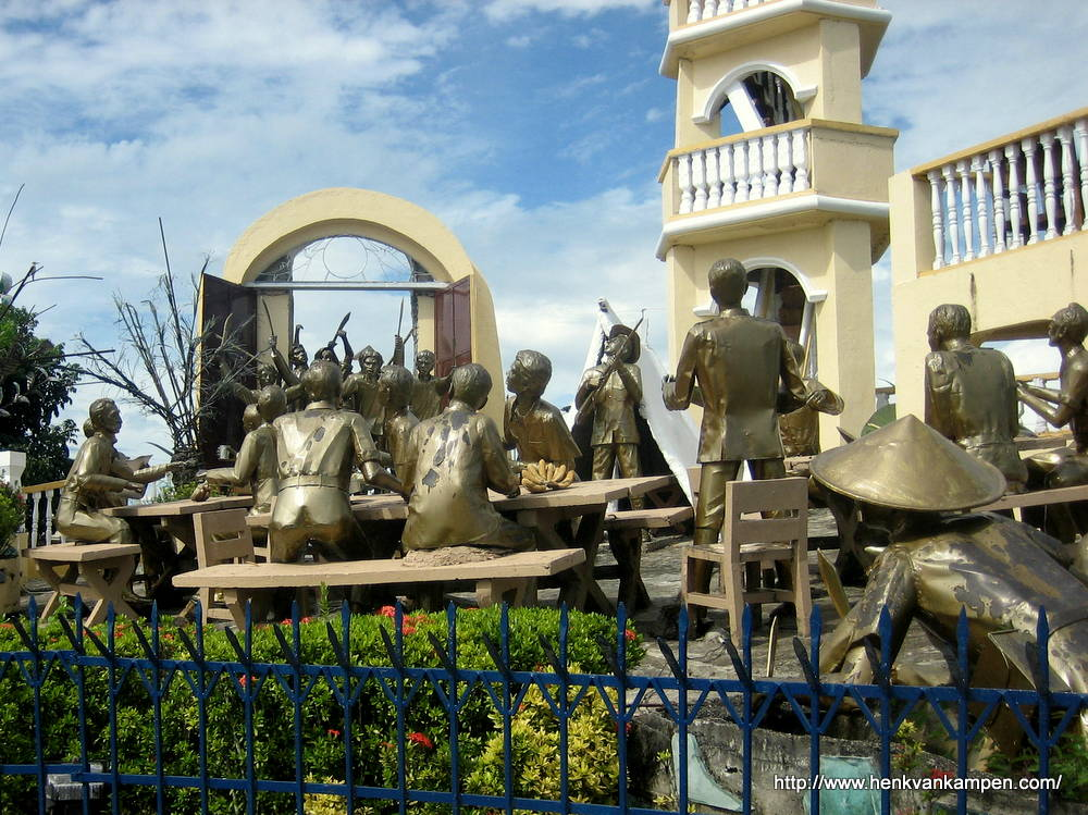 Detail of the Balangiga Monument, Balangiga, Samar