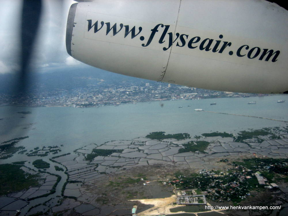 Flying over the Visayas