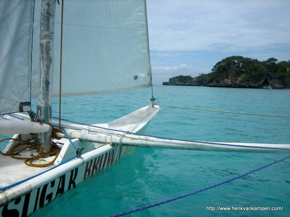 Sailing around Boracay