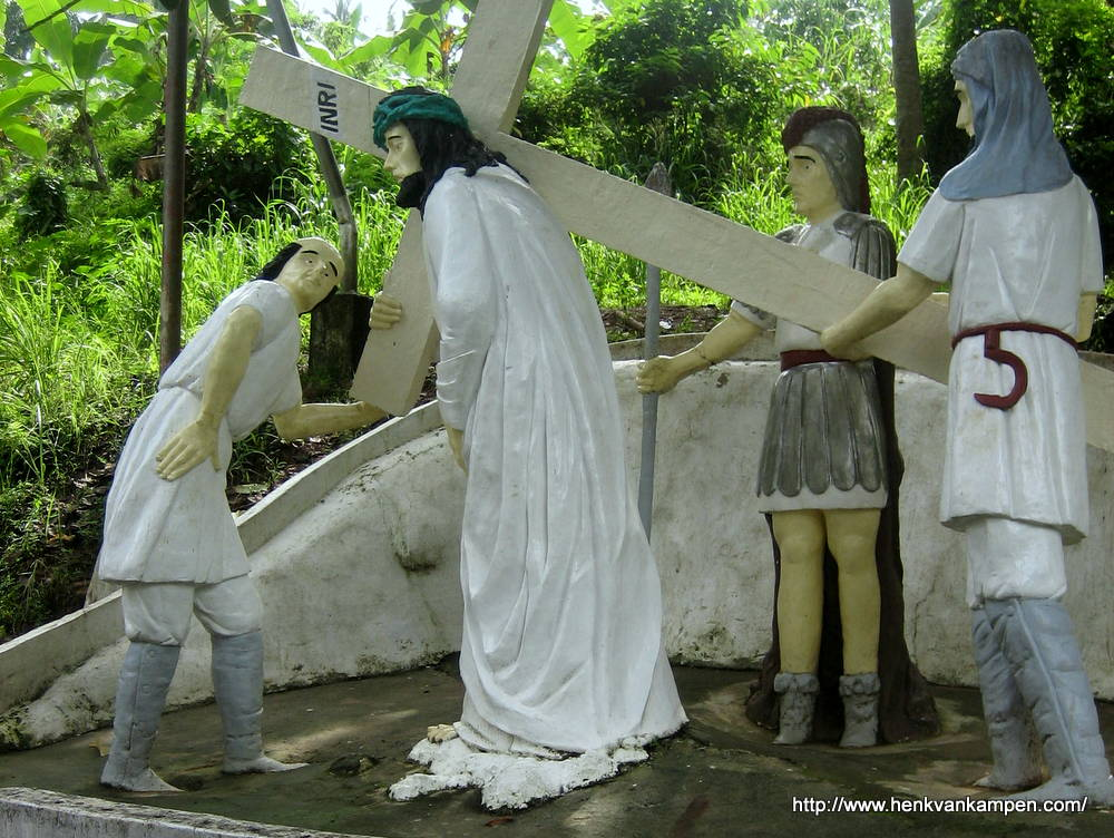 Jesus receives the cross - Stations of the Cross, Tacloban City