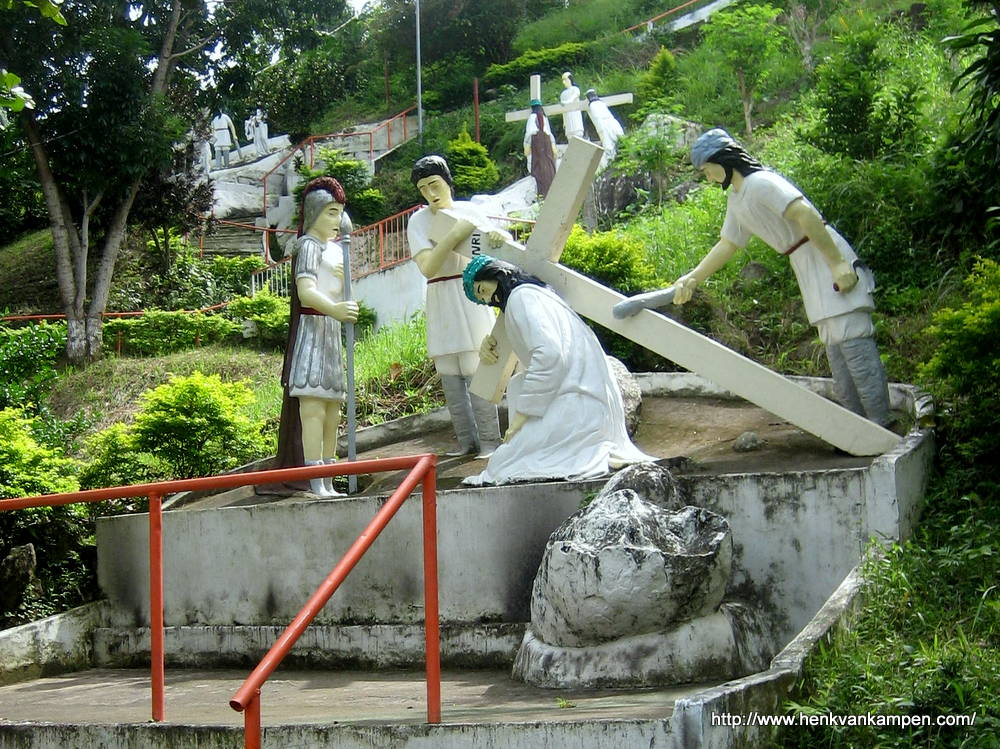 Jesus falls the first time - Stations of the Cross, Tacloban City