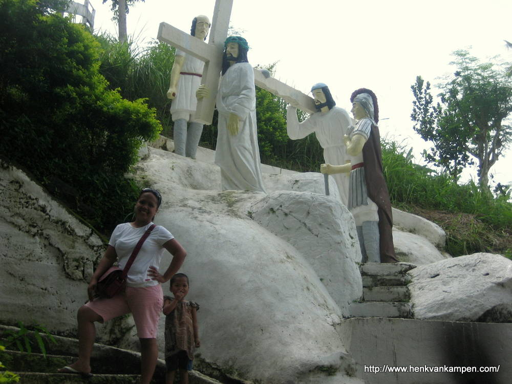 Simon of Cyrene carries the cross - Stations of the Cross, Tacloban City