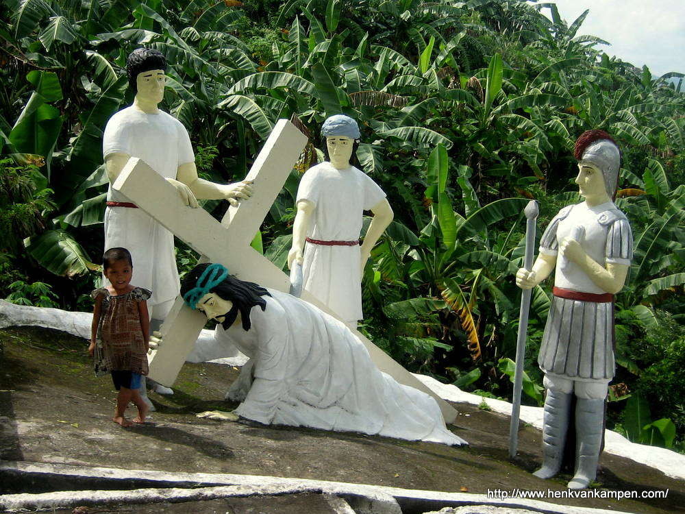 Jesus falls the second time - Stations of the Cross, Tacloban City