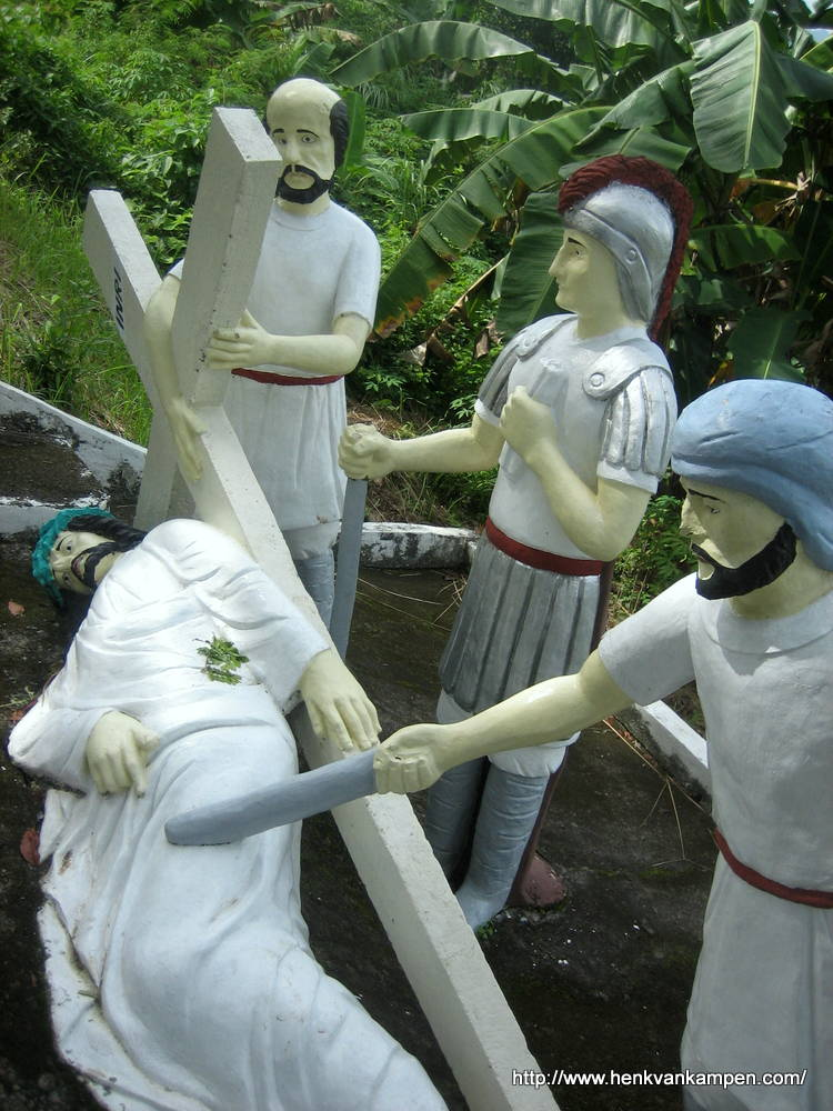 Jesus falls the third time - Stations of the Cross, Tacloban City