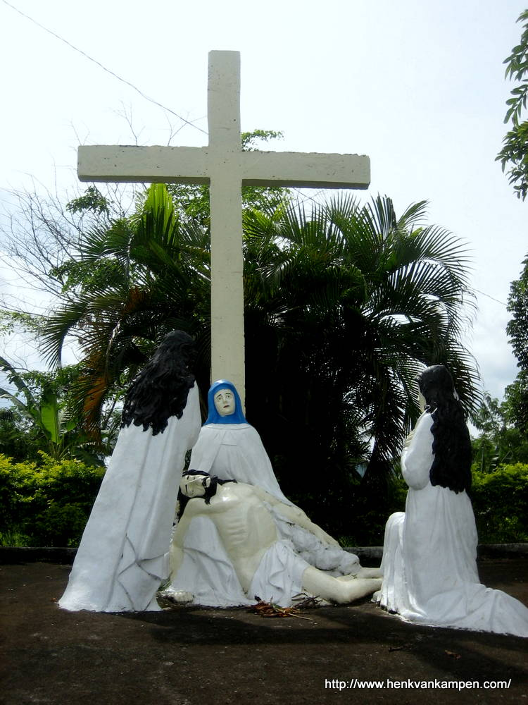 Jesus' body is removed from the cross - Stations of the Cross, Tacloban City