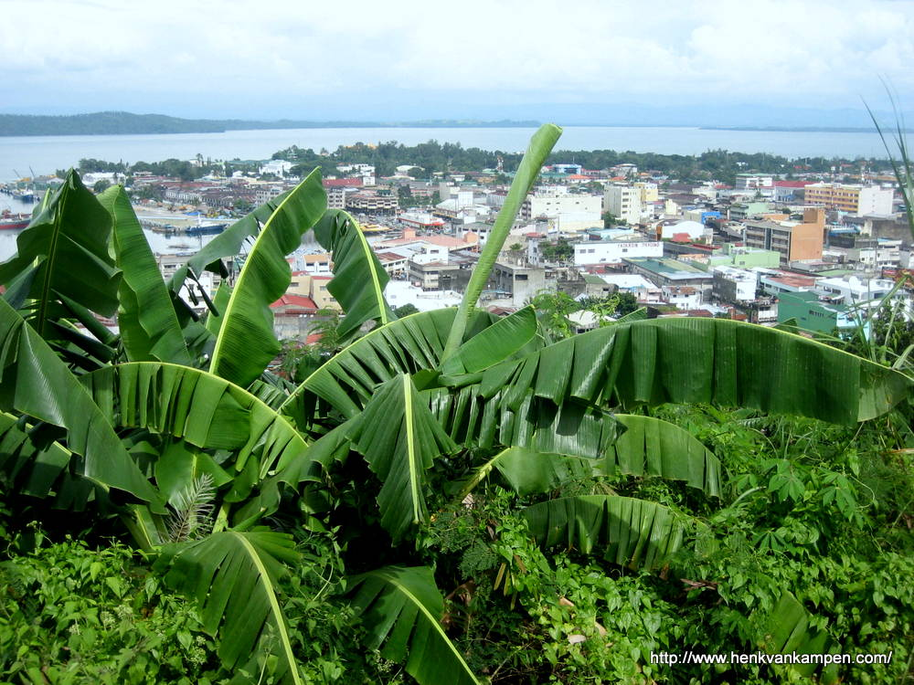View from Calvary Hill over Tacloban City and the San Juanico Strait