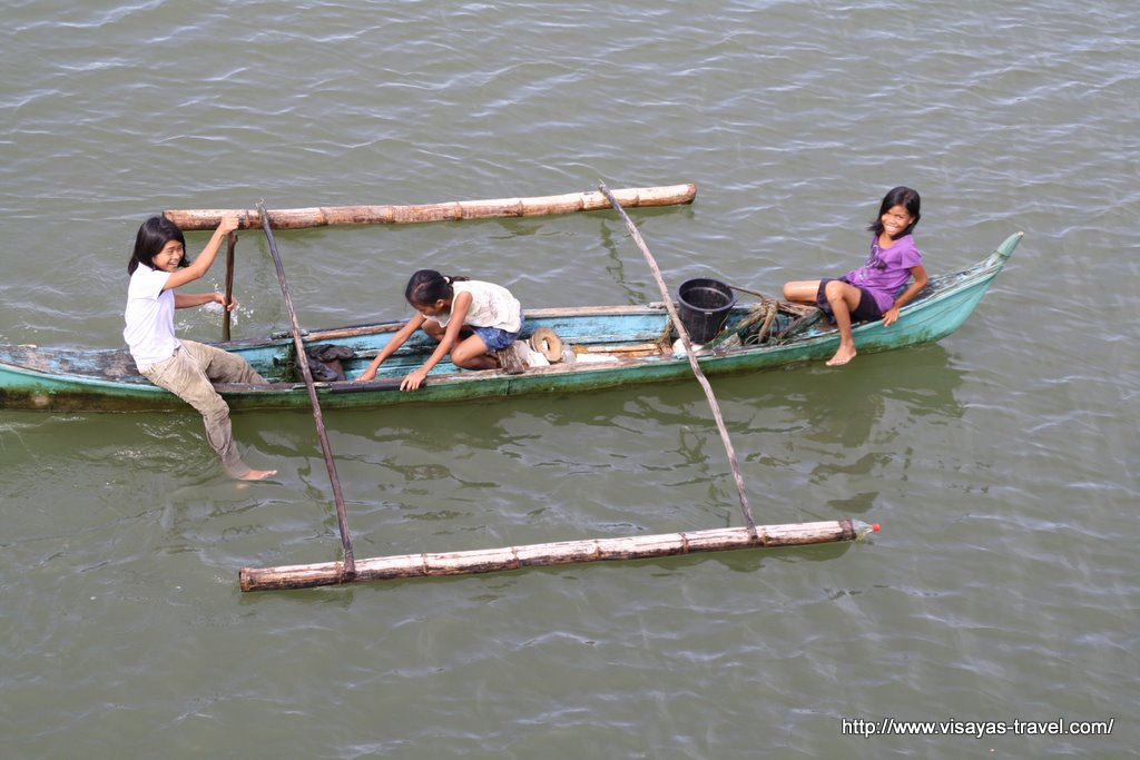 Children in a boat